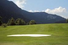 Golfschlag ohne Sicht